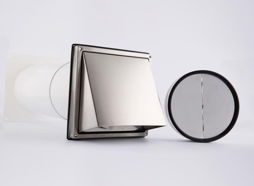 mauerkasten 150 dunstabzug teleskop rohr edelstahl ablufthaube mkwshe150 bdsi ebay. Black Bedroom Furniture Sets. Home Design Ideas